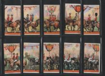 Tobacco cigarette cards Coronation Procession puzzle
